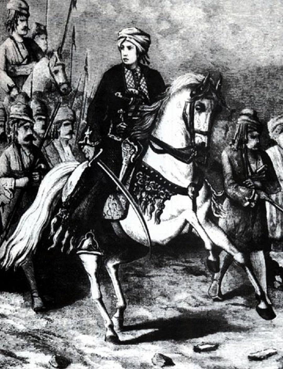 """No resim kovara îngilize """"The Illustrated London News"""" ra yo. Vanê, tîya serra 1854 Fata Reş bi 300 cengdaran Îstanbul de bîye."""